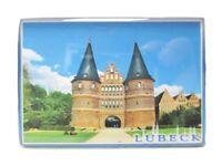 Lübeck Holstentor Hansestadt Foto Magnet Reise Souvenir Germany 8 cm