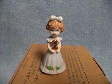 1982 Enesco Growin 00006000 g Up Girls - Brown Hair 2 Year Old Figurine