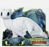 "How To Train Your Dragon 3 The Hidden World 14"" Light Fury Plush Toy DreamWorks"
