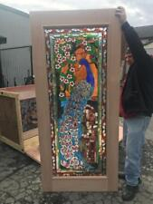 Beautiful Hand Made Stained Glass Peacock Entry Door - Jhl2167-4-2