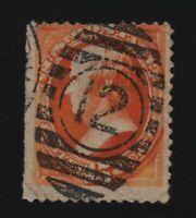 1879 Sc 189 used single 15c red-orange CV $27.50