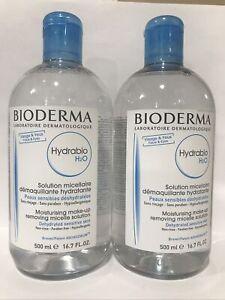 BIODERMA Hydrabio H2O Moisturising Make-up Removing Micelle Solution 500ml x 2