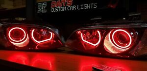 Holden VE Commodore S2 SSV Projector Headlights w/ Multicolored LED Halo Rings