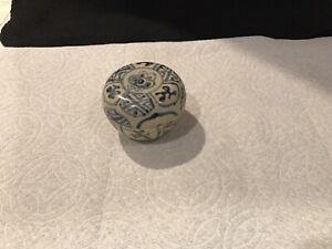 Antique Hoi An Hoard Shipwreck 15th Century Covered round Box Spice Jar 197721