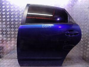 TOYOTA PRIUS 2006-2008 N/S/R PASSENGER SIDE REAR DOOR BLUE