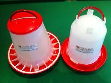 3kg Feeder & 3Ltr Drinker Chicken / Poultry / Duck/Hen Food And Water Accesories