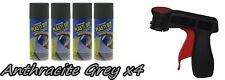 Performix Plasti Dip Anthracite Grey 4 Pack Wheel Kit Spray 11oz Cans Trigger