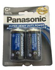2 pcs Size C LR14 MN1400 EN93 Panasonic Card 1.5V Zinc-Carbon Battery