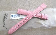 Chopard Pink Alligator Leather Watch Strap 15mm Genuine Authentic Swiss NWT