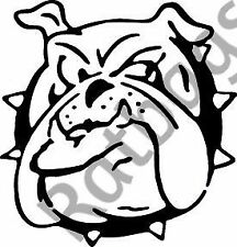 1pc Bull Dog Face - Sticker 30cm x 29cm Graphic All Colours Decal - ANIM009
