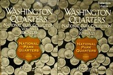 2010 - 2018 88 Coin ATB National Park Quarter PD Complete Set w/2 Harris Folders