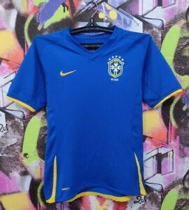 Brazil National Football Team 2008 2009 Away Soccer Jersey Shirt YouthL / MensXS