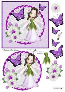 Fairy Sheets 03 Decoupage 1 x A4 Sheet. 180gsm Glossy photo paper Not Pre Cut