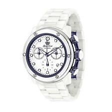 GLAM ROCK WOMEN'S AQUAROCK 42MM WHITE CERAMIC BAND SWISS QUARTZ WATCH GR50108F