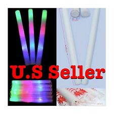 300 pcs Light Up Foam LED Sticks Baton Rave Party Mix Colors Tube LED Wand EDC