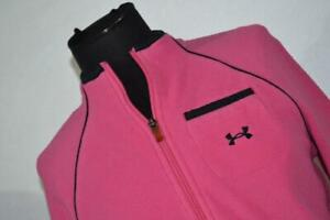 17491-a Under Armour Athletic Fleece Jacket Pink Size Small Womens