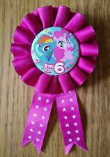 Birthday badge 6 years old, My Little Pony, rosette, good condition