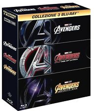 AVENGERS COLLECTION (3 BLU-RAY) 3 FILM MARVEL STUDIOS SAGA AVENGERS