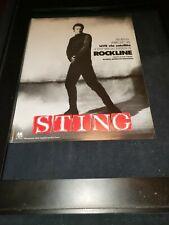Sting Rare Original Rockline Radio Promo Poster Ad Framed!
