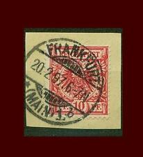 "DR 47, 10 PF briefstueck ""Francoforte"" #d977"