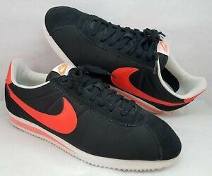 Nike Classic Cortez Nylon & Suede Black/Crimson/White Shoes 532487-061 - Size 14