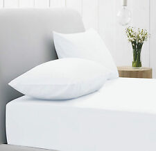 5 Job Lot White Extra Deep Fitted Bed Sheets Double Ultra Fresh Poly Cotton