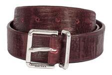 DIESEL Gürtel/Belt BHELO Cintura 00SJVI BORDEAUX 85cm