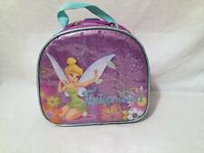 Girls The Disney Store Fairies Tinkerbell insulated lunch bag box purple glitter