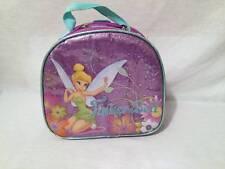 Girls The Disney Store Fairies Tinkerbell insulated lunch bag box purple glitter