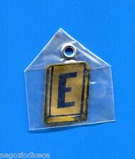 """KICA - Sorprese Decalcomania Figurina-Sticker anni 60 - LETTERA """"E"""" RETTANGOLARE"""