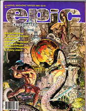 Epic Illustrated No 4  1980 Giant Snake Cover !