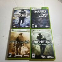 Call Of Duty 4 Modern Warfare 2 world at war Ghost Xbox 360 Lot CIB Complete