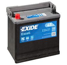 Batteria auto EXIDE EB451 45AH ampere 330A sx Excell cod. 3661024034487