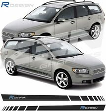 Volvo V50 R Design side stripes decals stickers graphic any colours