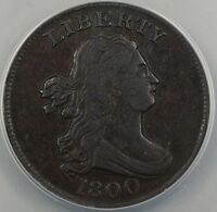 1800 C-1 Draped Bust Half 1/2 Cent, ANACS EF-45 Details (Scratched), AKR