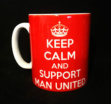 NEW KEEP CALM AND SUPPORT MAN UNITED GIFT MUG CUP CARRY ON PRESENT MAN U RETRO