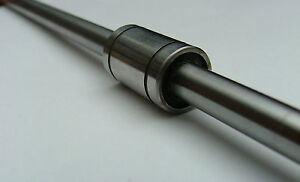 2 x8MM LINEAR SHAFT GUIDE AND 4 BEARINGS LM8UU 500MM LONG ROD 24MM LONG 15MM DIA