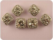 2 Hole Beads Crystal Stardust Gala 8mm Clear Swarovski Elements ~ Sliders QTY 6