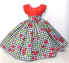 "20""  CISSY  Miss REVLON   FASHION   Clothes  RED  CHERRIES  & ORGANDY  DRESS"