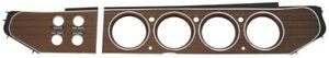 NEW 1970-71 Mopar E-Body Rally Dash Woodgrain Bezel 4 Switch