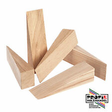 100 Hartholzkeile Holzkeile Buche/Esche/Eiche 240x60x30mm