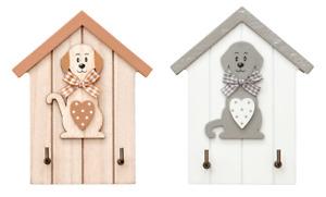 Key Holder Hanger Rack 2 Hooks Wall Mounted Animal Pet Dog Themed Home Decor