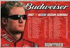 Budweiser 2002 NASCAR Schedule With Dale Earnhardt, Jr Poster/Sign Free Shipping