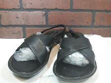 Rockport Dynamic Suspension Leather Sandals Black Open Toe Slingbacks Womens 10