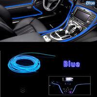 2M 12V LED Car Truck Interior Decorative Atmosphere Wire Strip Light Lamp Blue