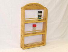 Personalized Triple Shelf  Oak Spice Rack