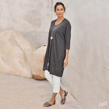 J. Jill - 2X(Plus) - Pure Jill Light Linen Blend Shadow Long Cardigan NWT