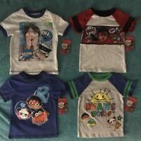 Ryan Toys Review Boys T-Shirt Size 4-5-6-7-8 Ryan's World Shirt New w/ Tags