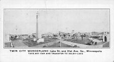 c1910 Minneapolis, MN:  Twin City Wonderland Amusement Park adv card.