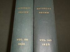 1925 SATURDAY REVIEW 2 BOUND VOLUMES - COMPLETE YR- PUBLISHED IN LONDON - R 1131